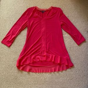 Women's Cable & Gauge Red Long Sleeve Top, Size M